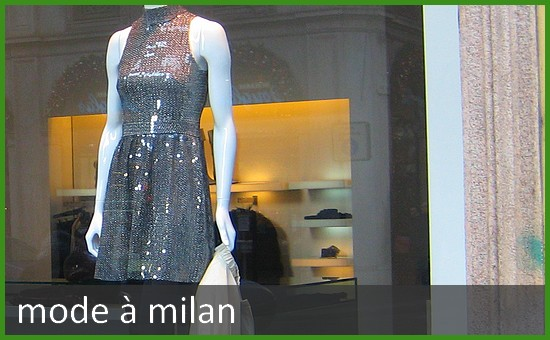 Boutique de mode à Milan