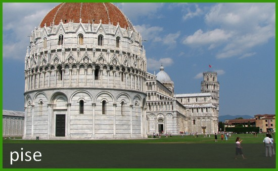 Ville de Pise en Italie