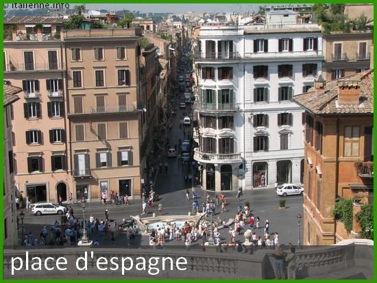 Photo place d'Espagne Rome