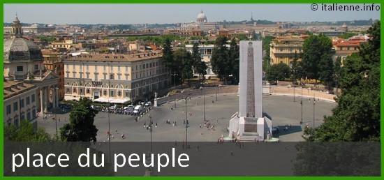 Photo de la Place du peuple à Rome