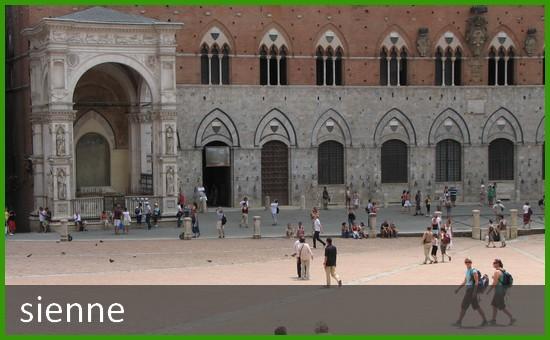 Ville de Sienne en Italie