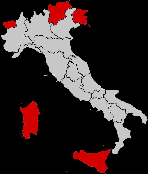 Carte Italie Regions.Les Regions Italiennes Guide Italie