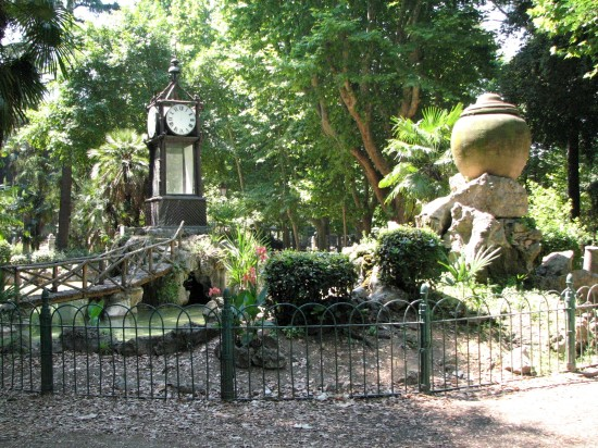 Dans le parc de la Villa Borghese