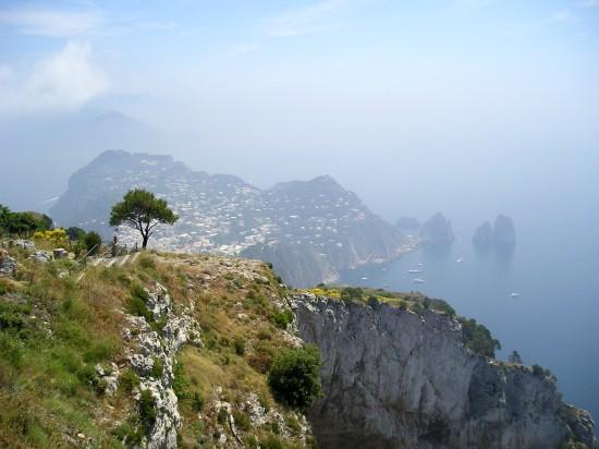 Du haut de l'ile de Capri