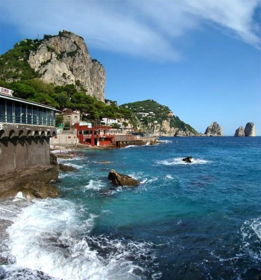 L'ile de Capri en Italie