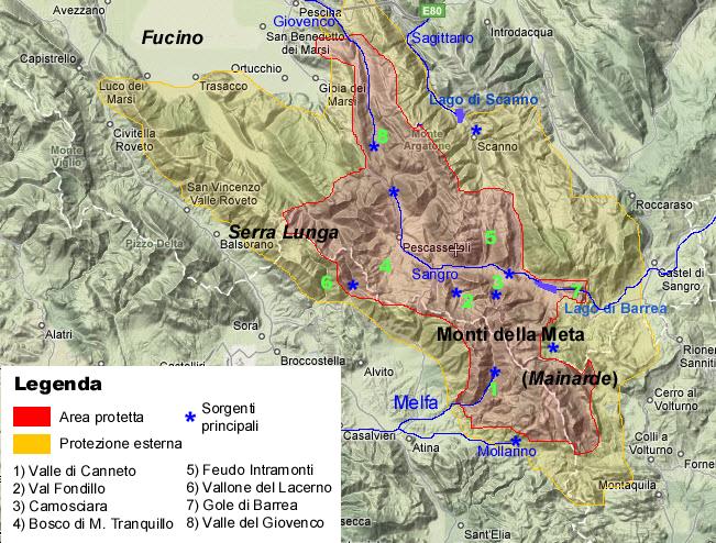 plan du parc national des abruzzes