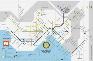 Carte metro Naples