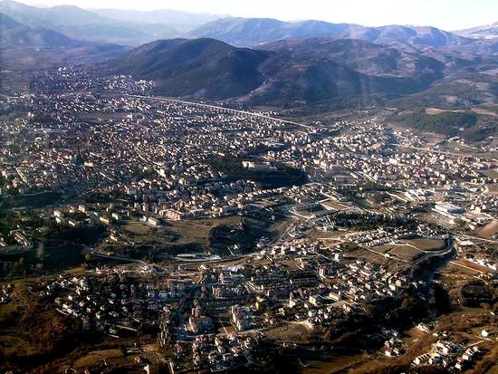 Ville de l'Aquila en Italie