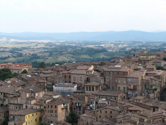 Vue sur la Toscane