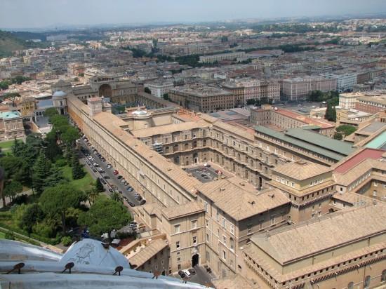 Vue différente du Vatican