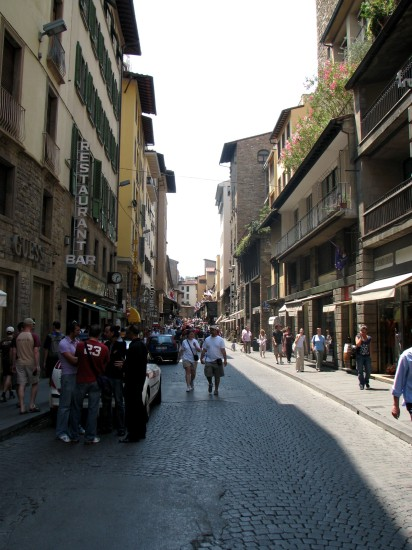 Rue marchande de Florence