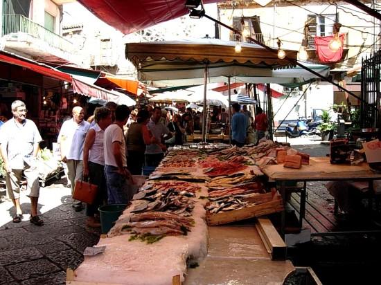 Marché de Palerme en Italie