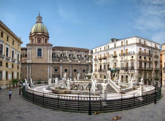 Piazza de Palerme en Italie