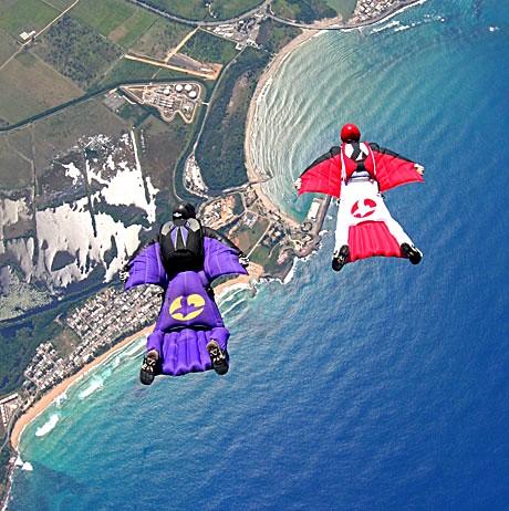 Parachute sur le bord de la mer