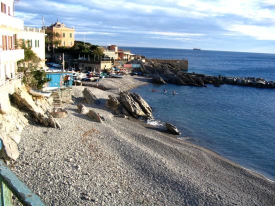 La plage de Quinto al Mare