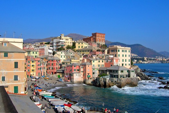 Le quartier de Boccadasse, Gênes