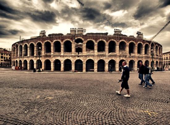 L'aréna de Vérone en Italie