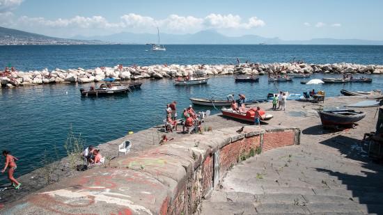 Bord de mer de Naples